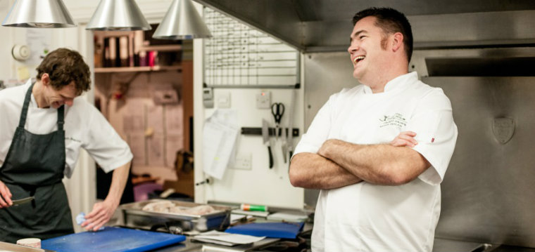 Nathan Outlaw and head chef Chris Simpson (photo credit: David Griffen)