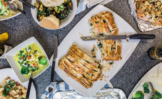 This splendid smoked fish puff pastry pie by CJ Jackson of the Billingsgate Seafood School is just the thing for a festive spread as the family assembles on Christmas Eve.