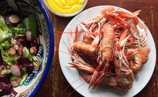 Langoustines are our pick of Billingsgate this week. Now at their peak, they're the perfect summer treat, especially when served with a big bowl of freshly made mayonnaise.