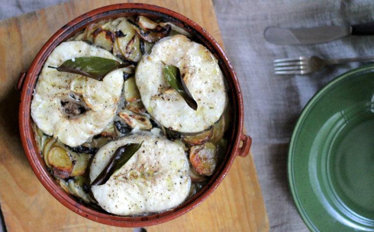 Hake gratin and plate 2
