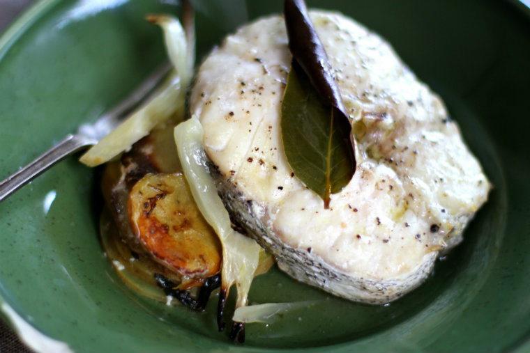 Hake on a plate 2