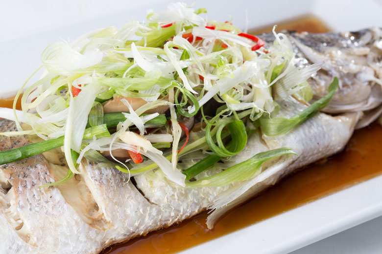 Steam-Braised Sea Bass With Thyme And Lemon Recipe — Dishmaps