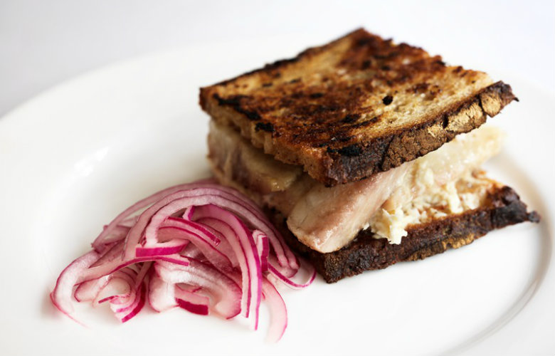 Smoked Eel Sandwich by Jeremy Lee in Fish on Friday