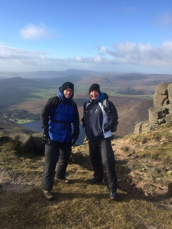 On the hill! Malachy Mallon (L) and Alan Hanna (R) - world record attempt