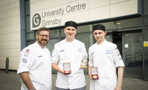 Albert Hindson, 19, from Sedbergh, and Sebastian Bloor have won the 2019 UK Young Seafood Chef of the Year.