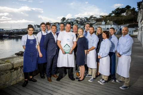 seafood restaurant of the year 2018 Winners - The Idle Rocks St Mawes Cornwall